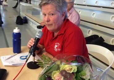 Anneke's afscheid als speaker bij de zwemwedstrijden