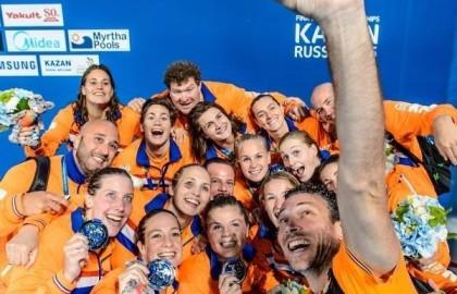 Zilver voor Nederlands dames waterpoloteam op WK