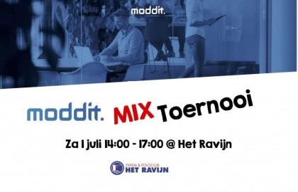 Teams Moddit Mixtoernooi 2017 bekend!